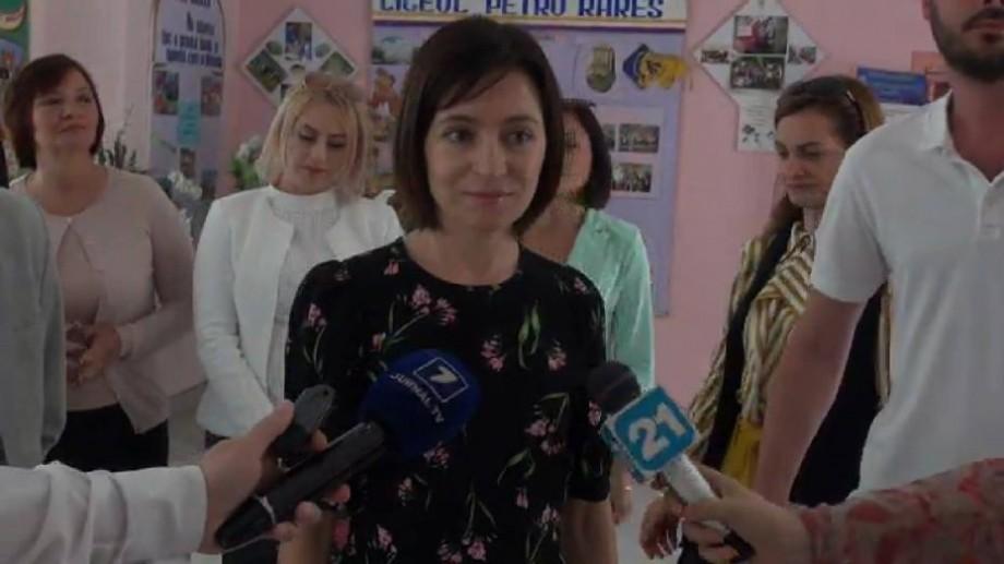 """(video) Alegeri locale 2018. Maia Sandu: """"Am votat pentru confortul cetățenilor, dar și viitorul acestei țări"""""""