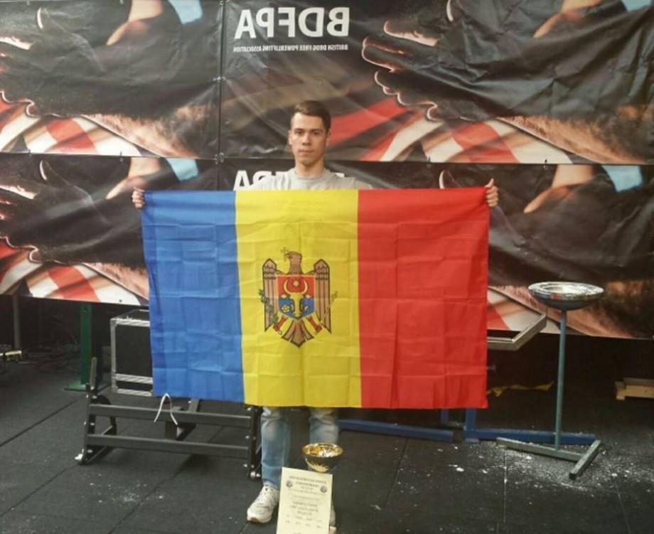 (foto) Studentul de la UTM, Dumitru Calmîc s-a clasat pe primul loc la Campionatul european la Powerlifting 2018