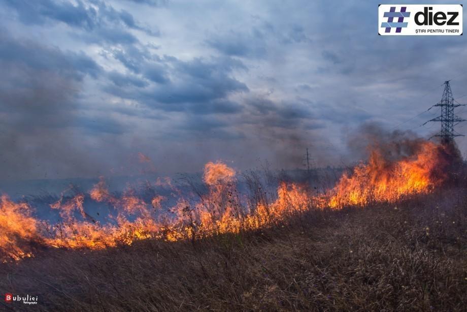 (foto) Serviciul Hidrometeorologic de Stat anunță cod galben de incendiu pe întreg teritoriul țării