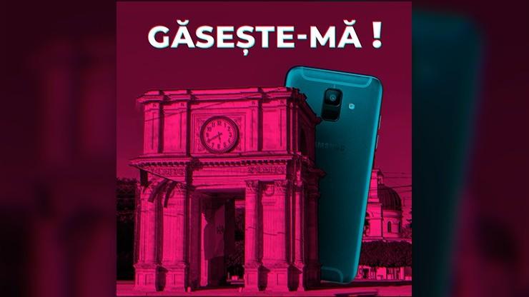 10 Galaxy A6 sunt ascunse pe străzile din Chișinău. Reușești să le găsești?
