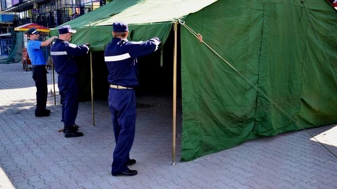 Inspectoratul General pentru Situații de Urgență al MAI instalează corturi anticaniculă. Unde pot fi găsite acestea