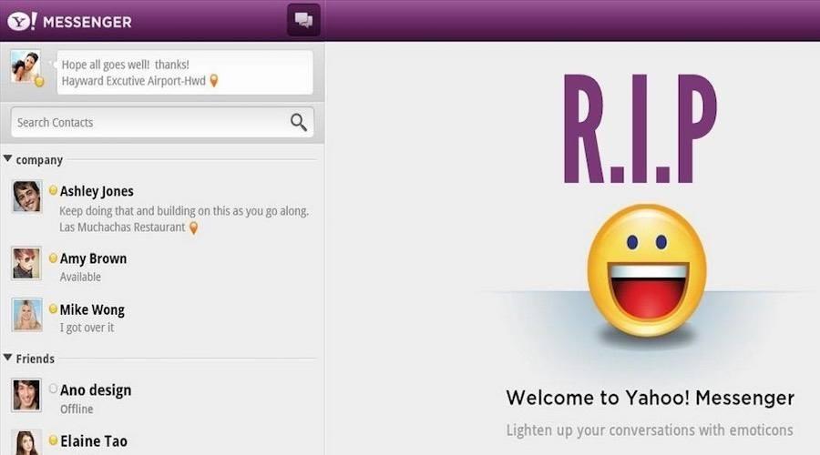 Aplicația Yahoo Messenger urmează să-și sisteze activitatea pentru totdeauna, după 20 de ani de activitate