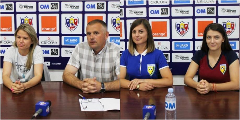 (video) Conferința de presă susținută de antrenorii echipelor în ajunul finalei Cupei Moldovei la fotbal feminin. Când va avea loc duelul