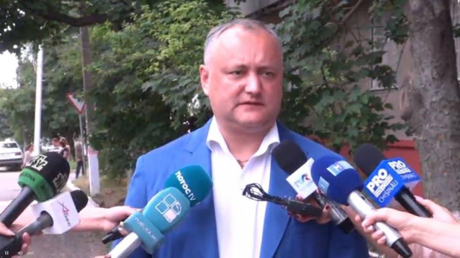"""(video) Președintele țării, Igor Dodon, și-a exprimat votul: """"Eu am votat pentru un profesionist"""""""