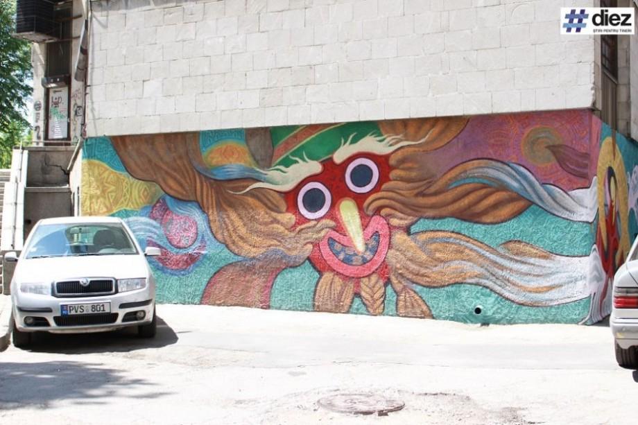(foto) O nouă pictură murală a apărut în Chișinău. Unde se află aceasta