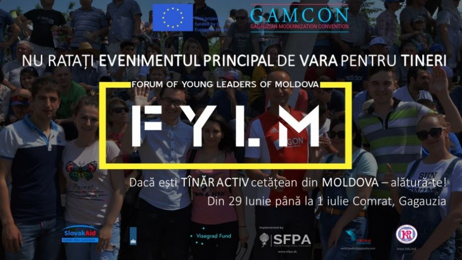 Înregistrează-te la Forumul de Tineri Lideri din Moldova și discută despre decizii și soluții alături de alți 60 de tineri