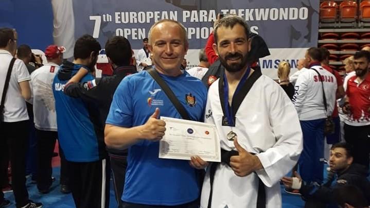 (foto) Sportivul moldovean, Petru Cataraga, a devenit vice-campion European la para-taekwondo