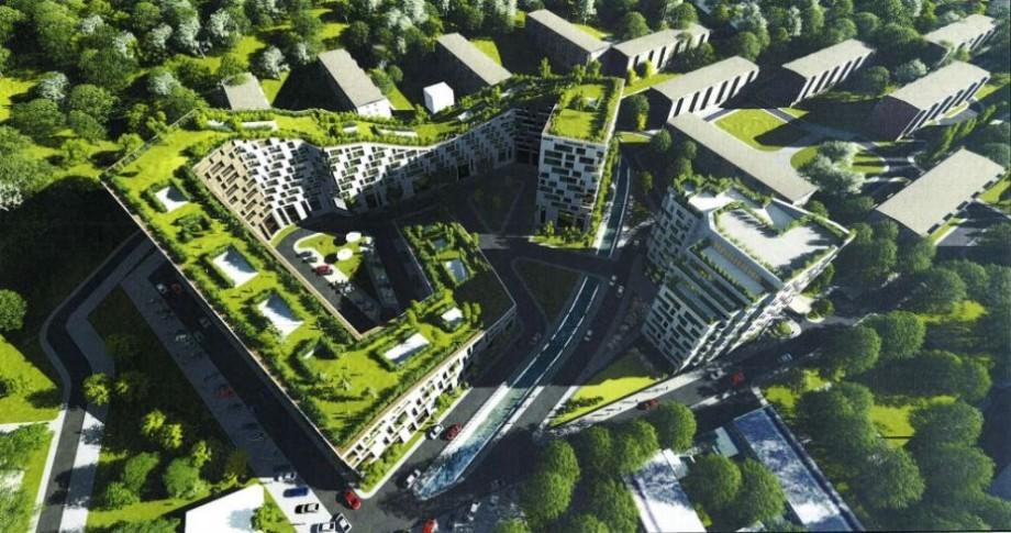 (foto) Premieră verde pentru Chișinău. În Capitală ar putea să apară un bloc de locuit cu un parc pe acoperiș