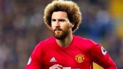 """(foto) Cele mai amuzante meme-uri cu Marouane Fellaini """"Messi"""" după calificarea Belgiei în sferturi"""