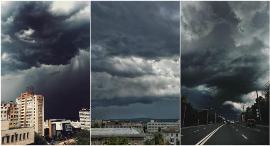 (foto) Furia cerului de vară. Spectacolul norilor de ploaie prin filtrele de pe rețelele de socializare