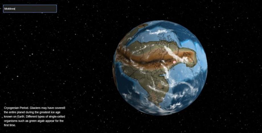 (hartă) Unde se afla Moldova cu 750 de milioane de ani în urmă. Călătorește în timp cu ajutorul acestei hărți