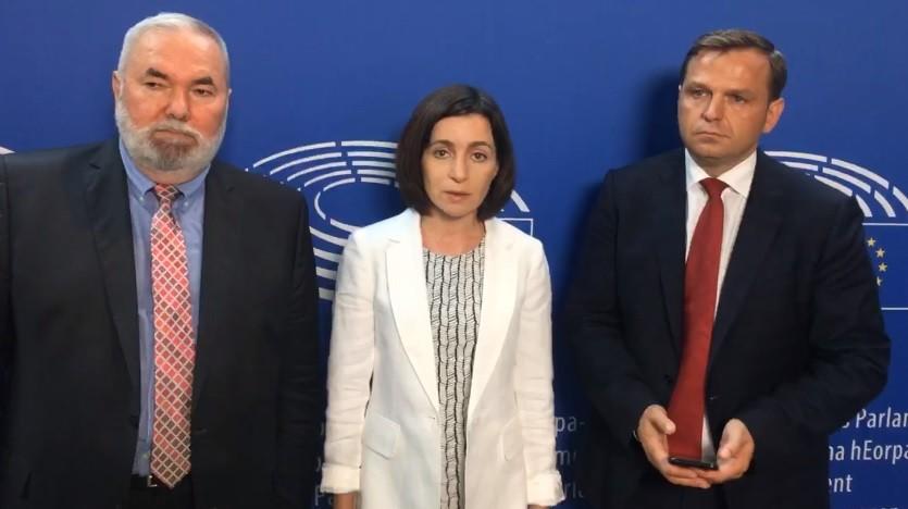 """(video) """"Europarlamentarii își exprimă solidaritatea față de cetățenii noștri"""". Reacția Maiei Sandu și a lui Andrei Năstase în legătură cu rezoluția PE"""