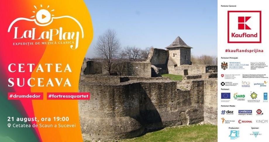 Muzica clasică va răsuna la Suceava. Drumul de dor aduce expediția La La Play la Cetatea de Scaun a Sucevei