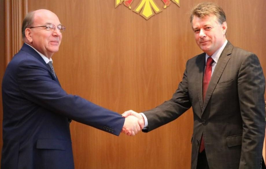 Oleg Vasneţov a prezentat copiile scrisorilor de acreditare în calitate de ambasador al Federației Ruse în Republica Moldova