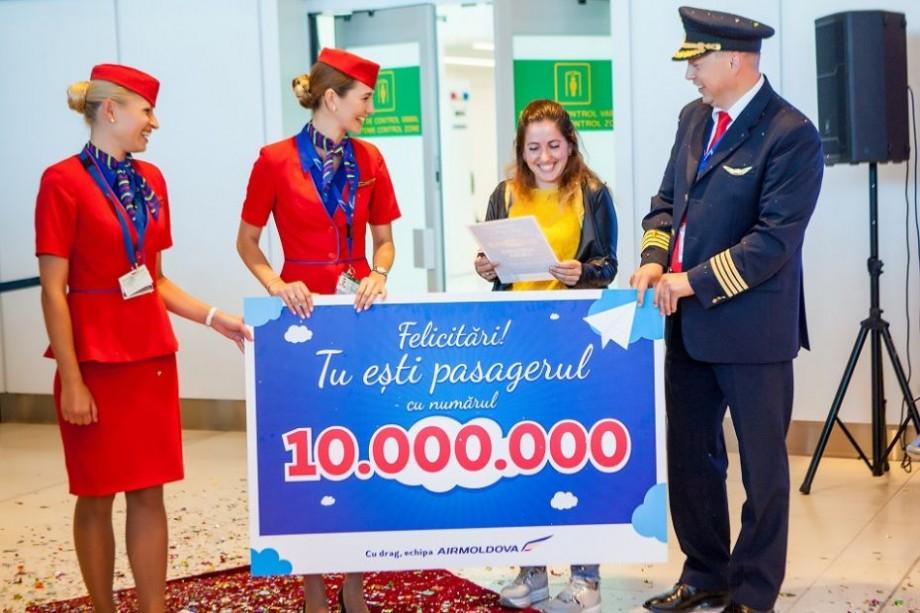 (video) Air Moldova sărbătorește 10 milioane de pasageri. Ce surpriză a pregătit compania aeriană