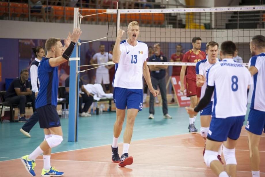(foto) Naționala de volei masculin a Moldovei a debutat cu victorie în preliminariile Campionatului European din 2019