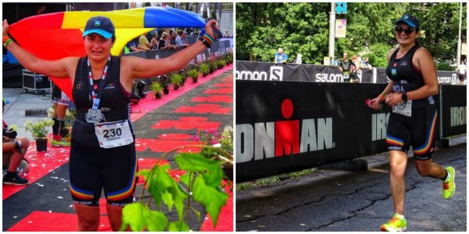 (foto) Ana Cazacu a devenit prima femeie Ironman din Moldova. Tânăra a obținut locul doi în categoria sa de vârstă