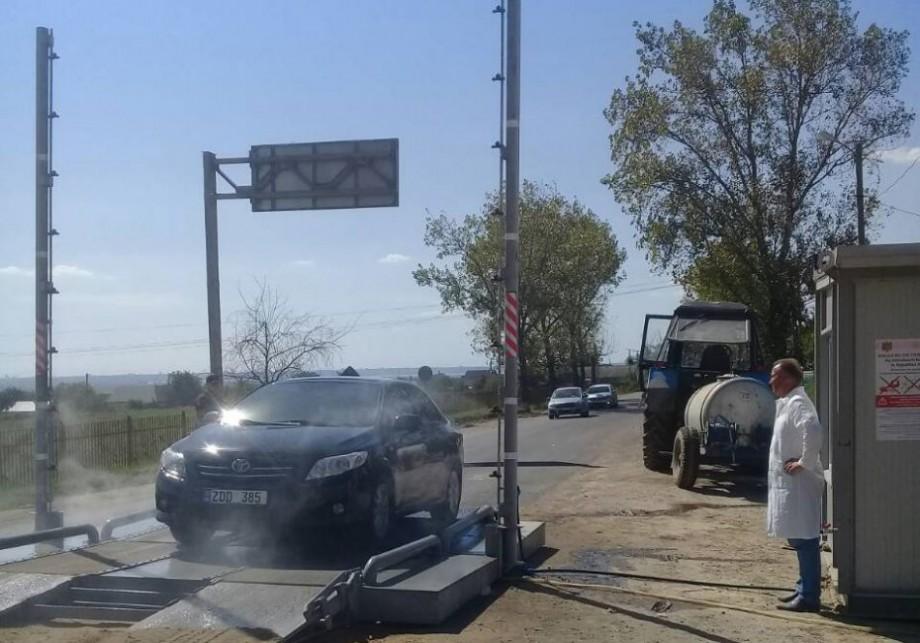 Mașinile care vin în Moldova prin satul Giurgiulești vor fi dezinfectate la intrare în localitate