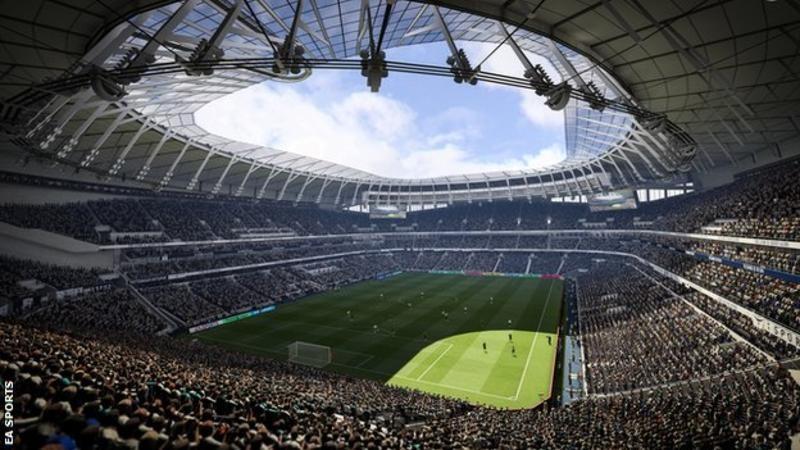 Fanii clubului de fotbal, Tottenham, vor putea vizita virtual interiorul noului stadion datorită jocului video, FIFA 19