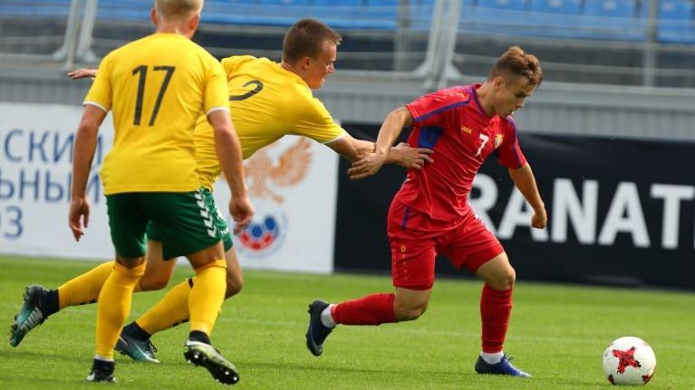 Naţionala Moldovei U-19 a învins echipa similară a Kazahstanului cu scorul final de 2-1