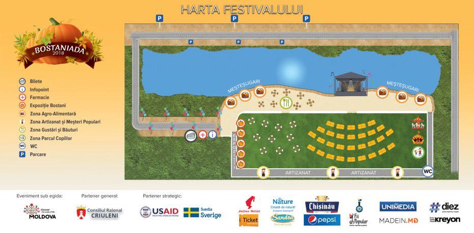 Harta Festivalului Bostaniada 2018