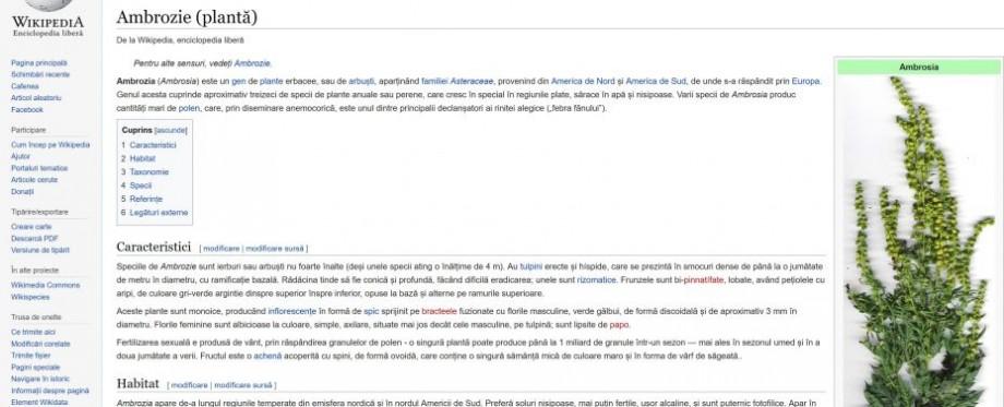 Pavel Filip, nemulțumit de progresul subalternilor în ce privește interzicerea ambroziei: Nu prezentați informații de pe Wikipedia