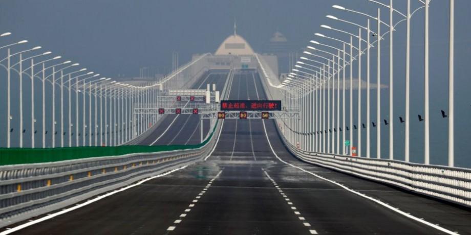 (foto, video) În China a fost construit cel mai lung pod maritim din lume. Costul proiectului este de circa 20 miliarde de dolari