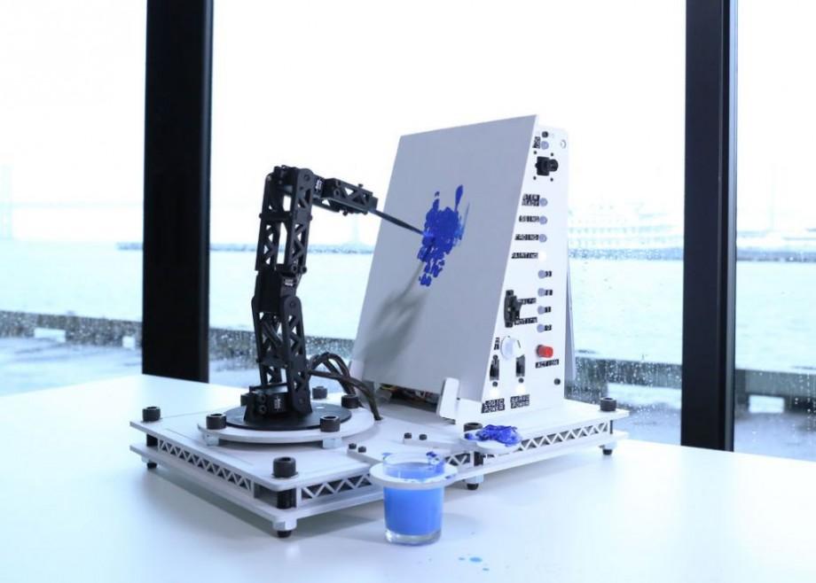 (foto) Un tablou realizat de un robot a fost vândut la licitație cu peste 40 de mii de dolari. Cum arată lucrarea