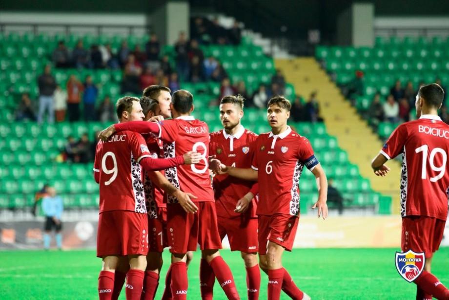 (foto, video) Naționala Moldovei de fotbal a obținut prima victorie în Liga Națiunilor. Radu Gîsari și-a trecut în cont dubla
