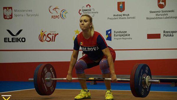 O nouă medalie pentru Moldova. Ecaterina Tretiacova s-a clasat pe locul trei la proba smuls la Europene