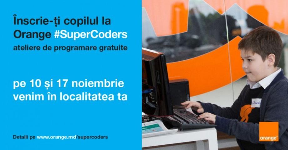 Orange #SuperCoders vine în școala ta – ateliere gratuite de programare pentru copii