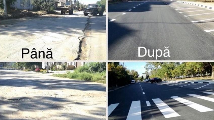 (foto) Cahul devine mai prietenos cu șoferii și pietonii. Cum arată străzile noi reparate din oraș