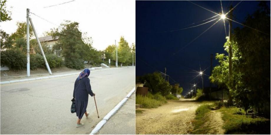 (foto) Satul Dezghingea din Gagauzia a ieșit din beznă. Oamenii deja nu se mai tem să se plimbe pe străzi noaptea