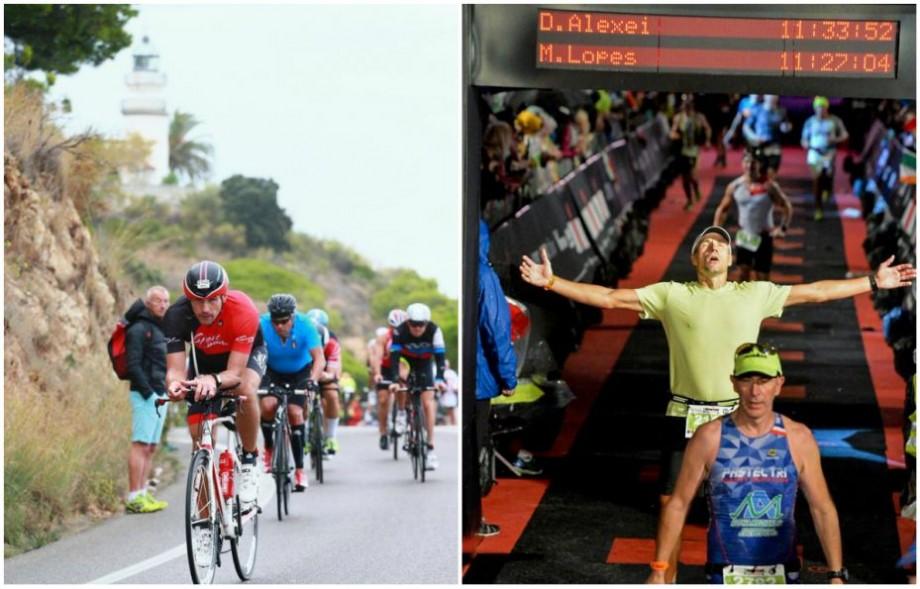 """(foto) Au făcut 3.8km înot, 180km pe bicicletă și 42km alergat. Moldova mai are doi """"Oameni de fier"""""""