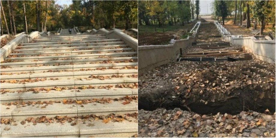 (foto) Reparația celor 200 de trepte din Parcul Valea Morilor a fost reluată. Ce spune primăria despre aceste lucrări