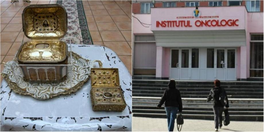 Tratament modern sau Moaște sfine. La Institutul Oncologic zeci de moldoveni s-au rugat pentru sănătatea lor pe osămintele aduse din Grecia