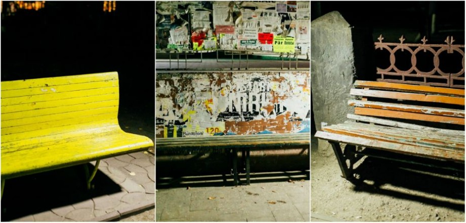 (foto) Colorate în nuanțe de toamnă, singuratice sau uitate. Cum arată băncile din Ungheni prin prisma obiectivului lui Sergiu Cotruță