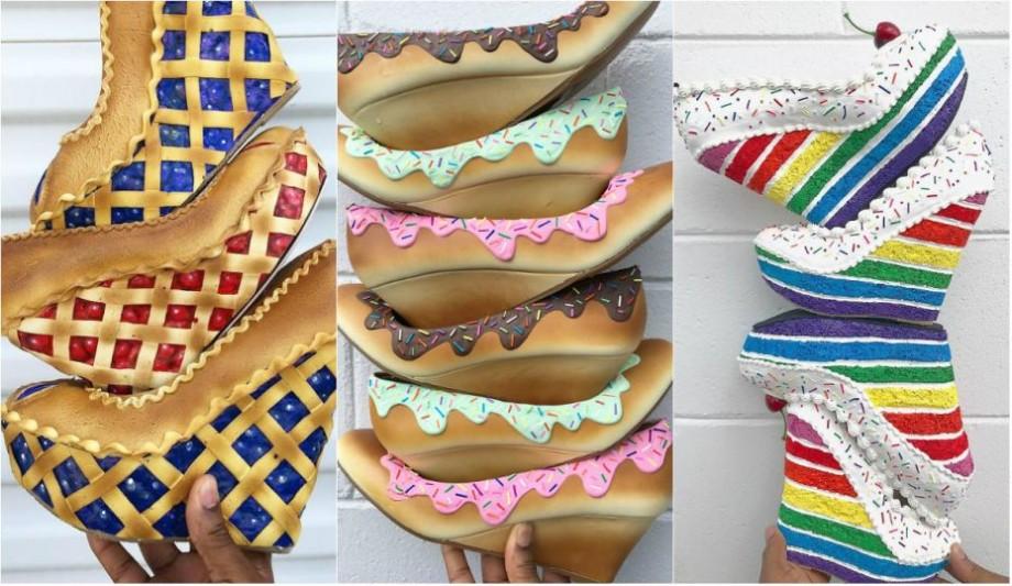 (foto) Pantofi și dulciuri. Designerul, Chris Campbell, a găsit combinația perfectă între cele două pasiuni ale sale