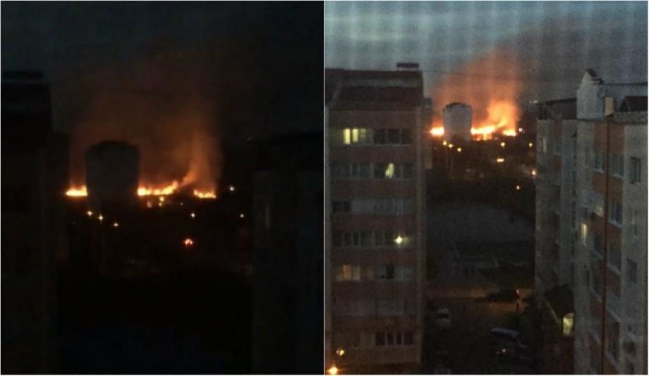 (video) Incendiu la Poșta veche. O suprafață de 30 ha de vegetație a ars