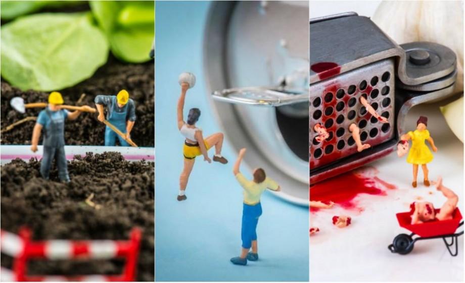 (foto) O lume în miniatură. Un fotograf a realizat o serie de figurine plasate lângă obiecte folosite de zi cu zi