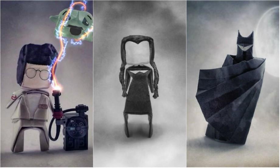 (foto) Origami inspirată din cultura pop, basme și personaje malefice. O tânără crează personajele malefice din hârtie
