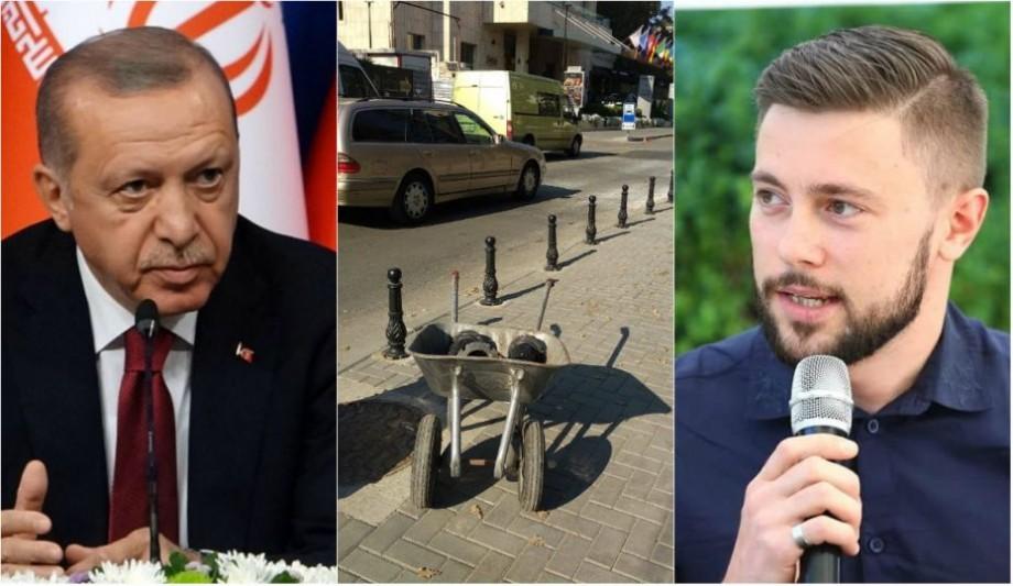 Pilonii de protecție de pe trotuarul Scuarului Cehov vor fi demontați cu ocazia vizitei lui Erdogan în Moldova. Cum comentează Victor Chironda acest fapt