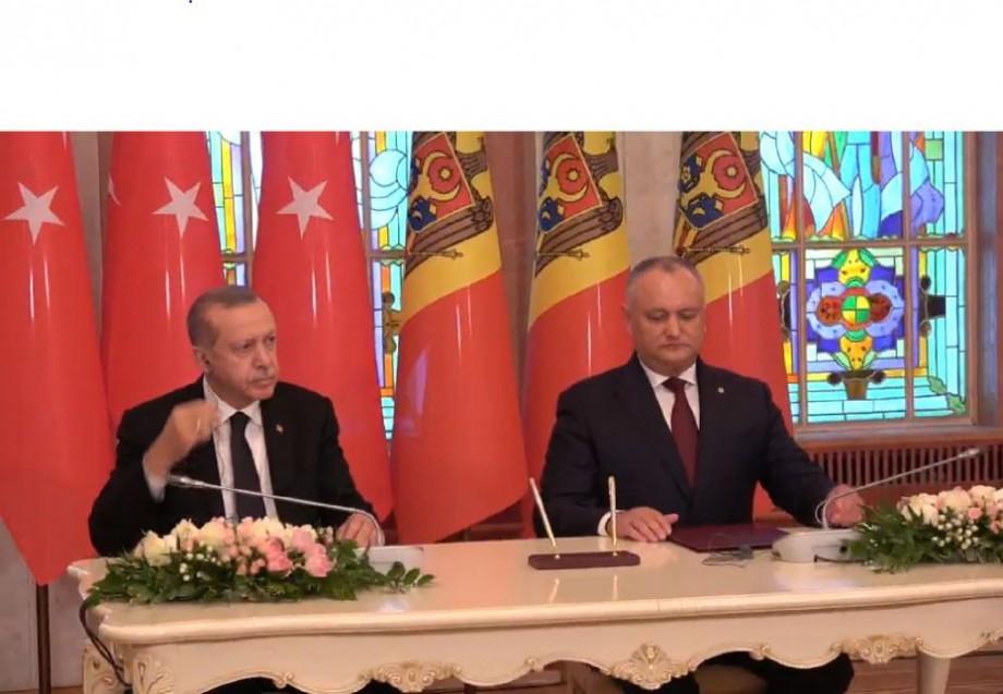 (live) Președintele Turciei, Recep Tayyip Erdogan și Igor Dodon semnează un document comun și dau declarații pentru presă