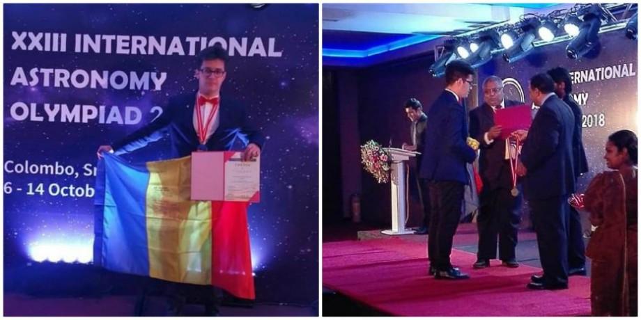 Un tânăr din România a făcut crowdfunding pentru a ajunge la Olimpiada Internațională de Astronomie și a câștigat medalia de aur