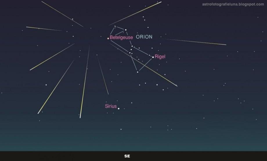 În această seară se va putea observa ploaia de meteori Orionide, momentul în care Pământul trece prin coada cometei Halley