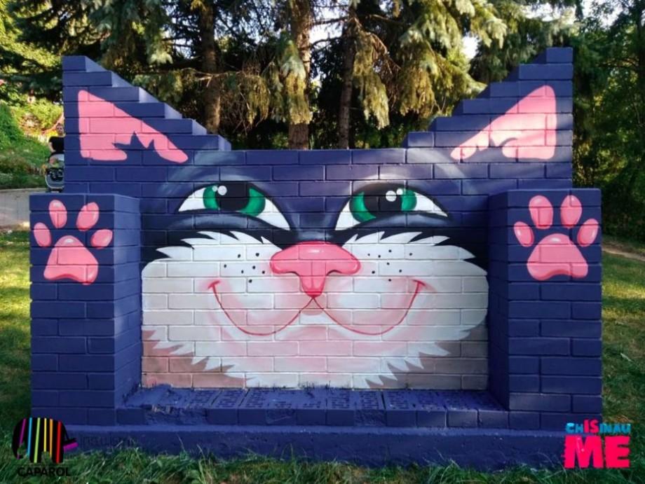 """(foto, video)  """"Dorința pentru a materializa trebuie scrisă"""". În parcul Valea Trandafirilor a apărut o pictură murală"""
