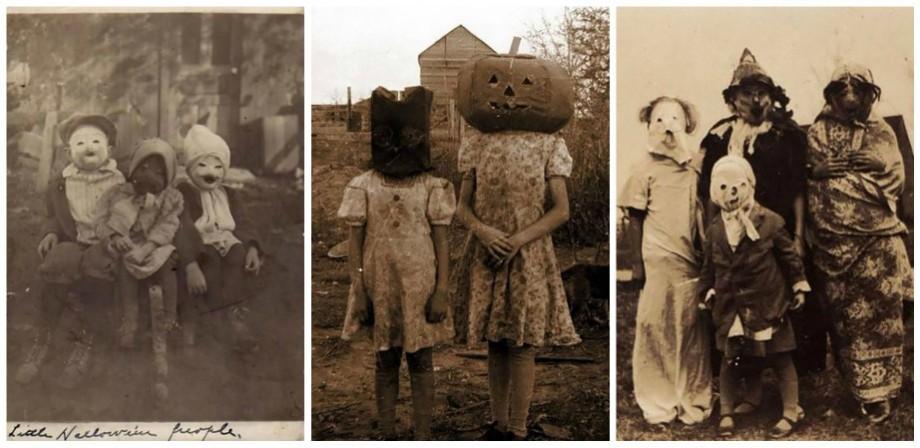(foto) Ca într-un film de groază. Cum arătau costumele și fotografiile de Halloween în secolul trecut