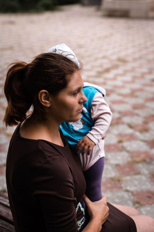 3-Cristina și copilul ei, Dumitru, au găsit refugiu la Centrul Maternal din Căușeni