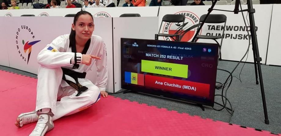 (foto) Ana Ciuchitu a devenit campioană europeană printre tineret la TaekwanDo. A lăsat în urmă 43 de concurente