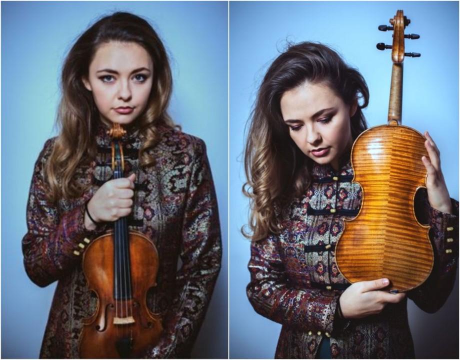 """Violonista Alexandra Conunova revine în Moldova cu un concert de excepție la Filarmonica Națională """"Serghei Lunchevici"""""""